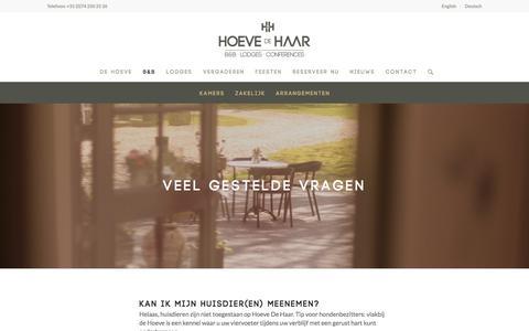 Screenshot of FAQ Page hoevedehaar.nl - Huisregels - Hoeve de Haar - captured July 12, 2017