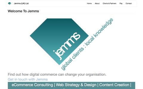 Screenshot of Home Page jemms.co.uk - Jemms (UK) Ltd | Global Clients : Local Knowledge - captured June 8, 2017