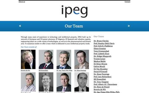 Screenshot of Team Page ipegconsultancy.com - IPEG Consultancy » Our Team - captured Oct. 4, 2014