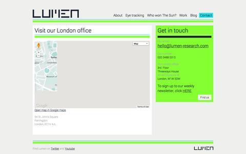 Screenshot of Contact Page lumen-research.com - Contact «  Lumen Research - captured Oct. 3, 2014