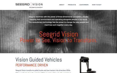 Screenshot of Case Studies Page seegrid.com - 3D Vision Navigation | Vision Guided Vehicles | Seegrid - captured July 3, 2015