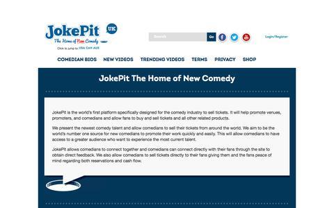 Screenshot of About Page jokepit.com - About | JokePit - captured Sept. 20, 2018