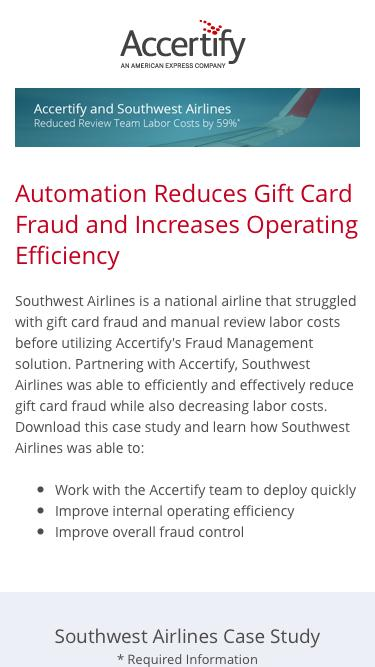 Southwest Airlines Reduced Review Team Labor Costs By 59%