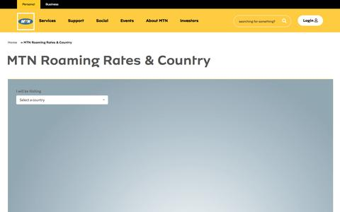 Screenshot of Maps & Directions Page mtnonline.com - MTN Roaming Rates & Country | MTN Online - captured Sept. 9, 2019