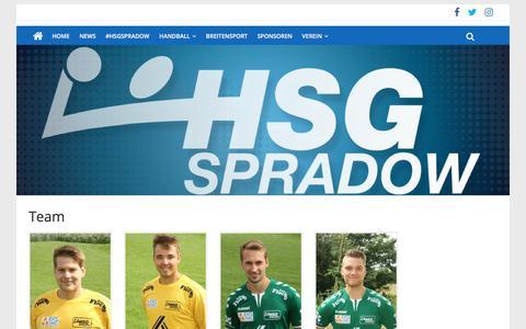 Screenshot of Team Page hsg-spradow.com - Team - captured May 24, 2018