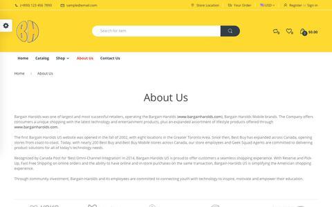 Screenshot of About Page bargainharolds.com - About Us – Bargain Harolds - captured Aug. 1, 2018