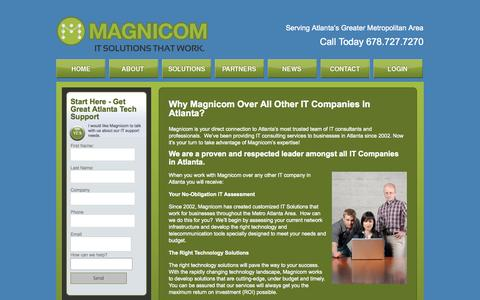 Screenshot of About Page magnicom.net - IT Companies in Atlanta | Georgia Tech Company For Network Support - captured Oct. 4, 2014