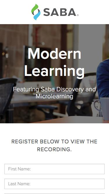 Product Tour - Modern Learning Featuring Saba Discovery