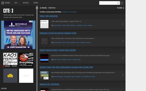 Screenshot of Menu Page dte.web.id - DTE :]: Menu - captured Oct. 31, 2014