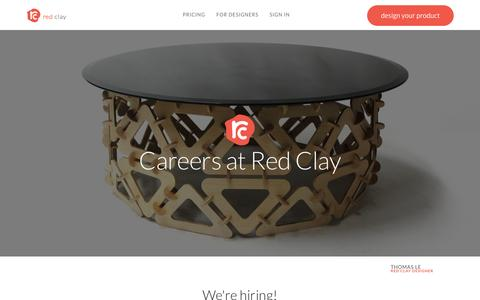 Screenshot of Jobs Page redclaydesign.com - Red Clay :: Careers - captured Dec. 9, 2015