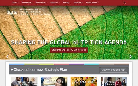 Tufts University Friedman School of Nutrition Science and Policy