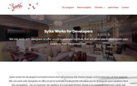 Screenshot of Developers Page sylkafurniture.com - Sylka Works for Developers | Sylka Inc. - captured Oct. 18, 2018