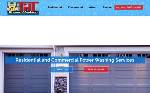 Screenshot of Home Page tntpowerwashing.com - TNT Powerwashing - captured Sept. 21, 2018