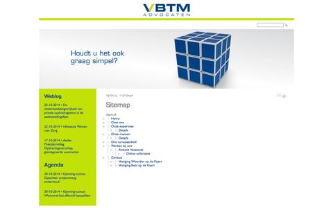 Screenshot of Site Map Page vbtm.nl - Sitemap - vbtm.nl - captured Oct. 26, 2014