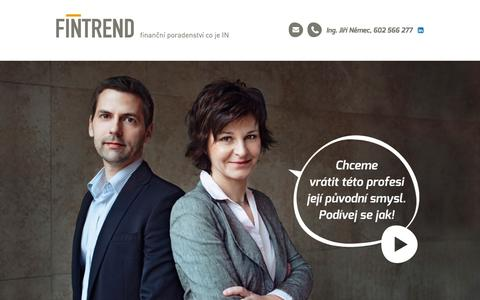 Screenshot of Home Page fintrend.cz - Finanční poradenství | FINTREND s.r.o. - captured Oct. 5, 2014