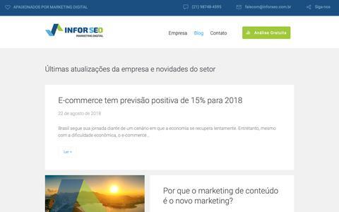 Screenshot of Blog inforseo.com.br - Section: Blog » Infor SEO - captured Oct. 1, 2018