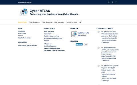 Screenshot of Home Page cyber-atlas.com - Cyber-ATLAS - captured Nov. 5, 2018