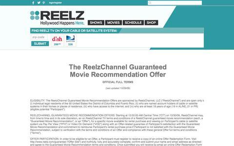 Screenshot of Terms Page reelz.com - REELZ: Error - captured Sept. 25, 2014