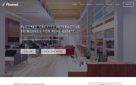 Screenshot of Home Page floored.com - Floored - captured Dec. 13, 2014