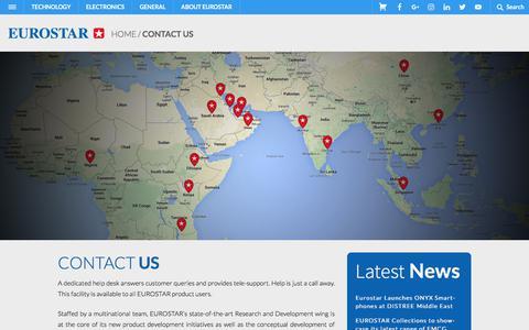 Screenshot of Contact Page eurostargroup.com - Contact Us - EN EuroStar - captured Sept. 12, 2018