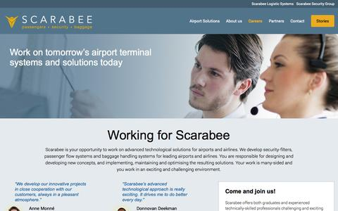 Screenshot of Jobs Page scarabee.com - Working for Scarabee - Scarabee: We handle expectations - captured Oct. 4, 2014