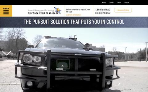 Screenshot of Home Page starchase.com - StarChase Pursuit Management Technology - captured Sept. 17, 2014
