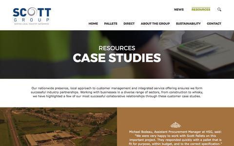 Screenshot of Case Studies Page scottgroupltd.com - Case Studies | Scott Group - captured March 20, 2017