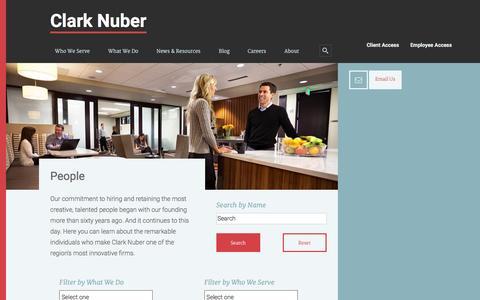 Screenshot of Team Page clarknuber.com - People Archive - Clark Nuber - captured Dec. 9, 2015