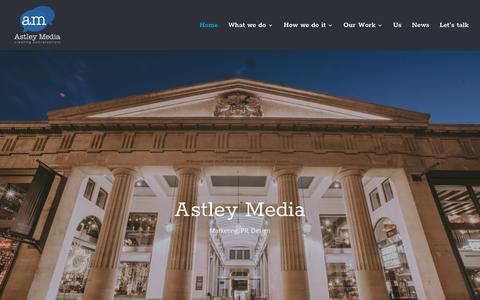 Screenshot of Home Page astleymedia.co.uk - PR & Marketing Agency   Graphic Design   Exeter   Devon   Astley Media - captured May 30, 2017