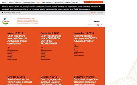 Screenshot of Press Page cesit.net - News | Cesit - captured Nov. 1, 2014