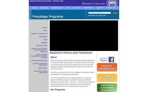 Precollege | Brandeis University