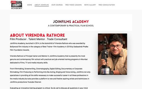 Screenshot of About Page joinfilms.com - About – Joinfilms - captured Sept. 18, 2019