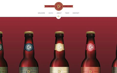 Screenshot of Home Page hkbeerco.com - Hong Kong Beer Co. - captured Oct. 3, 2014