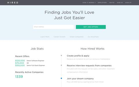 Jobs - Find your dream job with Hired - Hired