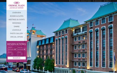 Screenshot of Home Page cplouisville.com - Crowne Plaza Louisville Airport Hotel | Louisville Hotel - captured Feb. 1, 2016