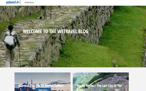 Screenshot of Blog wetravel.to - wetravel.to - Authentic Trips, organized by people near you - captured Nov. 3, 2014