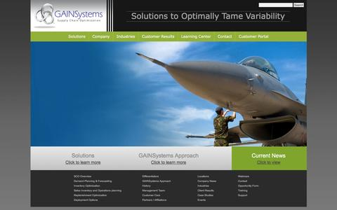 Supply Chain Planning Solutions   Inventory Optimization   GAINSystems Inc.