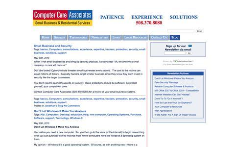 Screenshot of Blog help4computers.com - Blog «  Computer Care Associates - captured Aug. 12, 2017