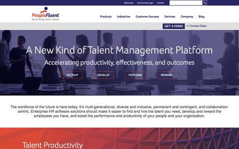 Talent Management Software | PeopleFluent