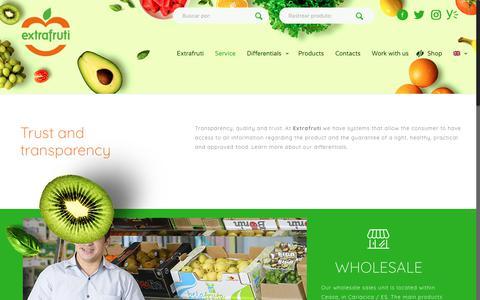 Screenshot of Services Page extrafruti.com.br - Service – Extrafruti - captured Sept. 30, 2018