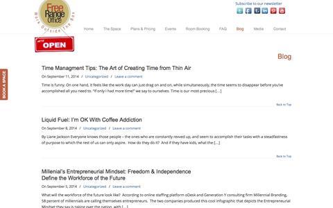 Screenshot of Blog freerangeoffice.com - Blog - Free Range Office Free Range Office - captured Sept. 30, 2014