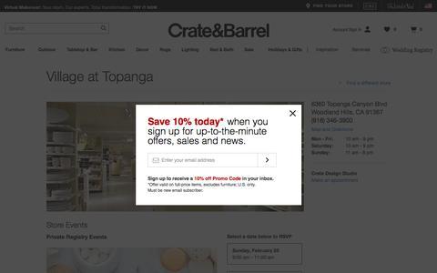 Furniture Store Woodland Hills, CA   Crate and Barrel