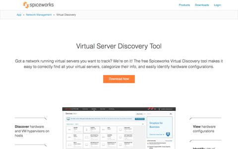 Free Virtual Server Discovery Tool | Virtualization Management from Spiceworks