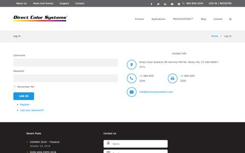 Screenshot of Login Page directcolorsystems.com - Log In | Direct Color Systems - captured Nov. 6, 2018