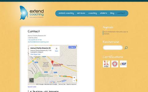 Screenshot of Contact Page extend-coaching.com - Contact  |  Extend Coaching - captured Dec. 13, 2015