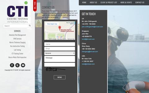 Screenshot of Contact Page cti-ship.com - contact - captured April 25, 2016
