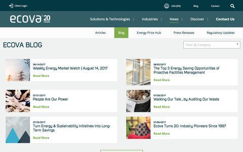 Screenshot of Blog ecova.com - Blog - captured Aug. 17, 2017