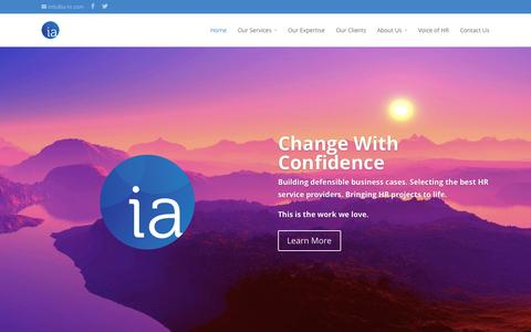 Screenshot of Home Page ia-hr.com - IA | Change With Confidence - captured Sept. 30, 2014