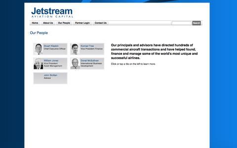Screenshot of Team Page jetstreamavcap.com - Jetstream Aviation Capital - Our People - captured Oct. 6, 2014
