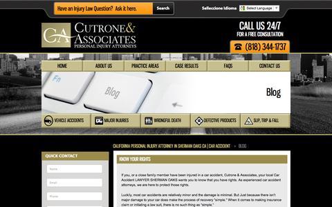Screenshot of Blog california-personal-injury-lawfirm.com - California Personal Injury Law Blog in Los Angeles - captured Sept. 23, 2014
